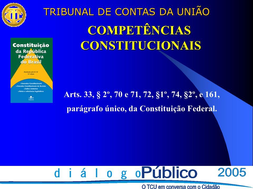 COMPETÊNCIAS CONSTITUCIONAIS parágrafo único, da Constituição Federal.