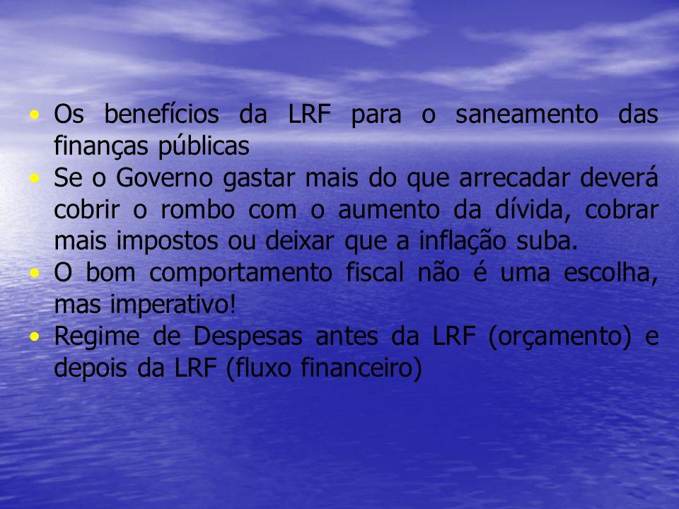 Os benefícios da LRF para o saneamento das finanças públicas