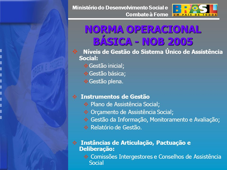 NORMA OPERACIONAL BÁSICA - NOB 2005