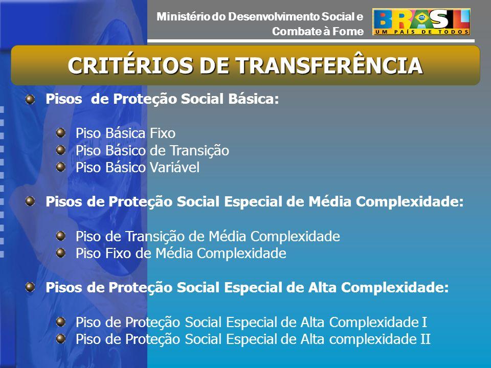 CRITÉRIOS DE TRANSFERÊNCIA