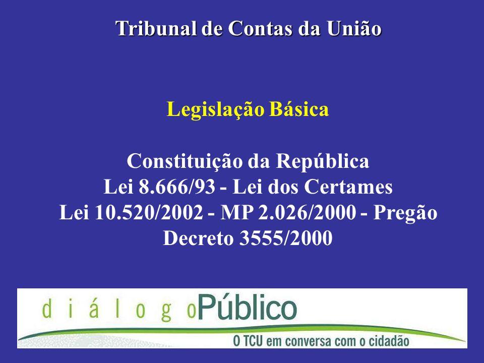 Tribunal de Contas da União Constituição da República