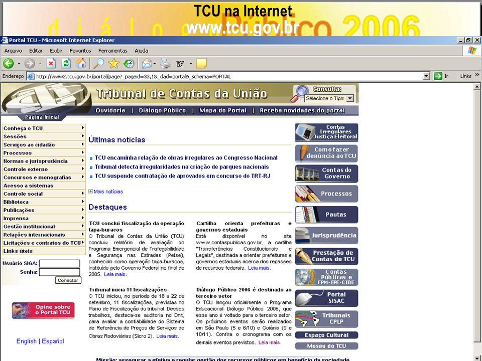 TCU na Internet www.tcu.gov.br