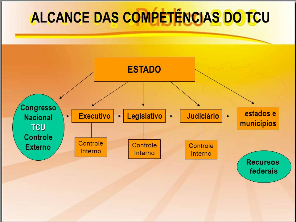 ALCANCE DAS COMPETÊNCIAS DO TCU