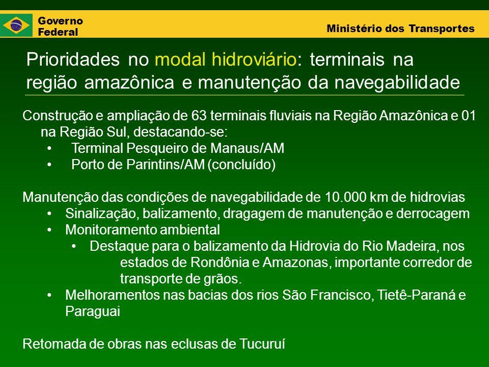 Prioridades no modal hidroviário: terminais na região amazônica e manutenção da navegabilidade