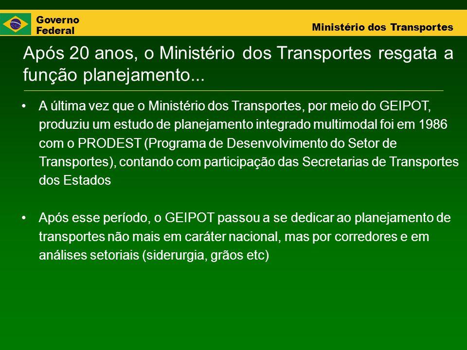 Após 20 anos, o Ministério dos Transportes resgata a função planejamento...