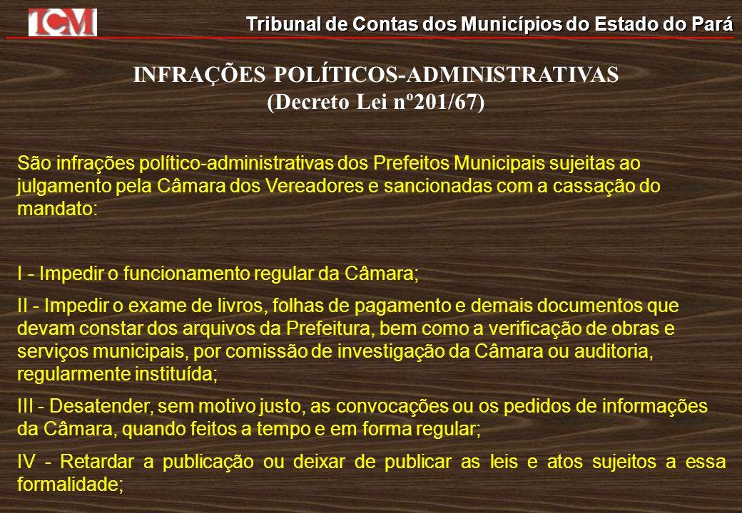 INFRAÇÕES POLÍTICOS-ADMINISTRATIVAS