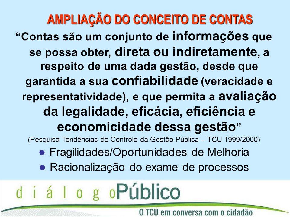AMPLIAÇÃO DO CONCEITO DE CONTAS