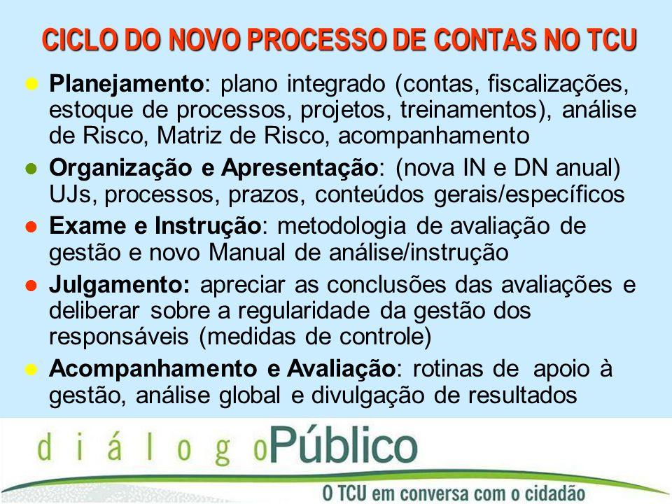CICLO DO NOVO PROCESSO DE CONTAS NO TCU