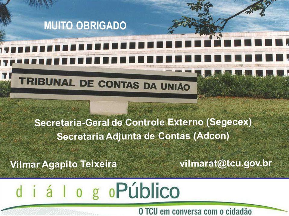 MUITO OBRIGADO Secretaria-Geral de Controle Externo (Segecex)