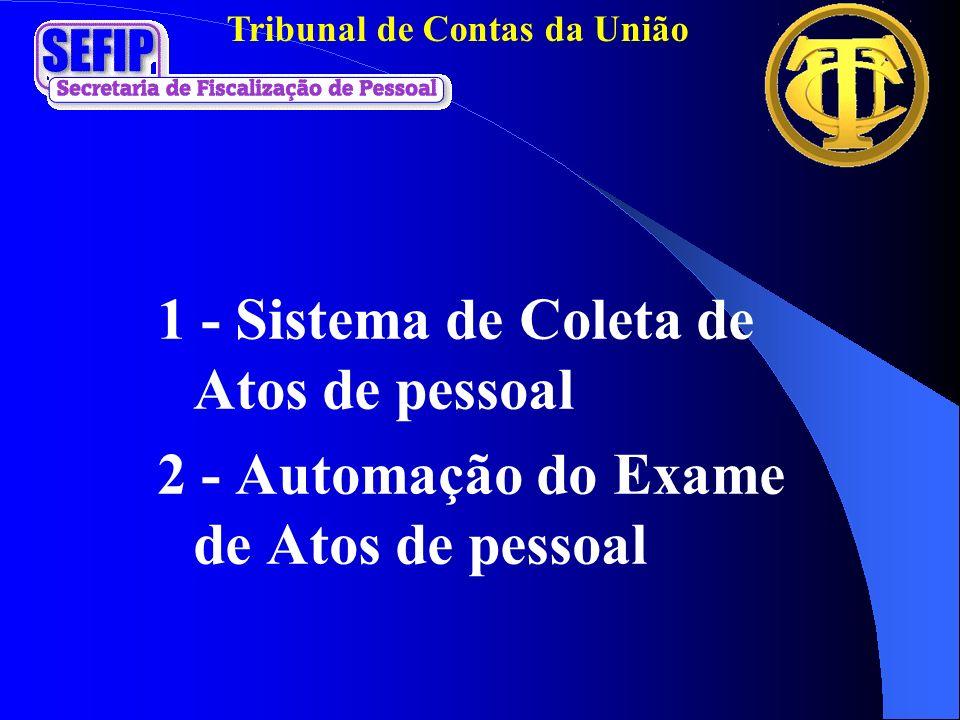 1 - Sistema de Coleta de Atos de pessoal