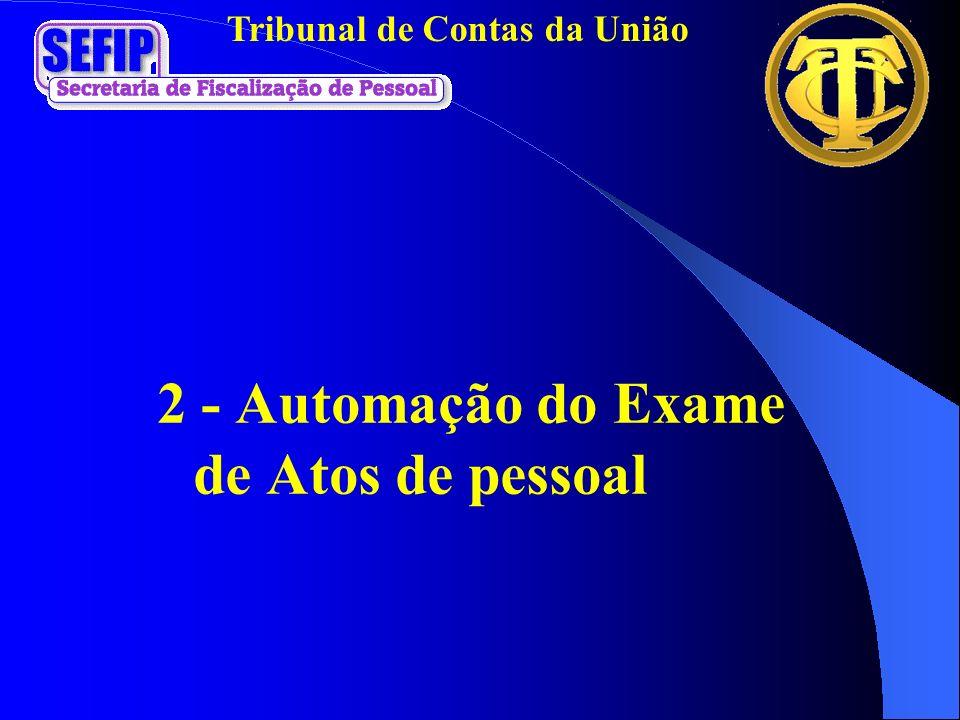 2 - Automação do Exame de Atos de pessoal