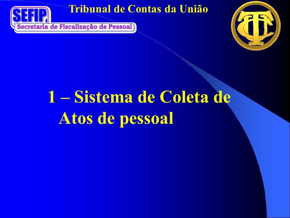 1 – Sistema de Coleta de Atos de pessoal