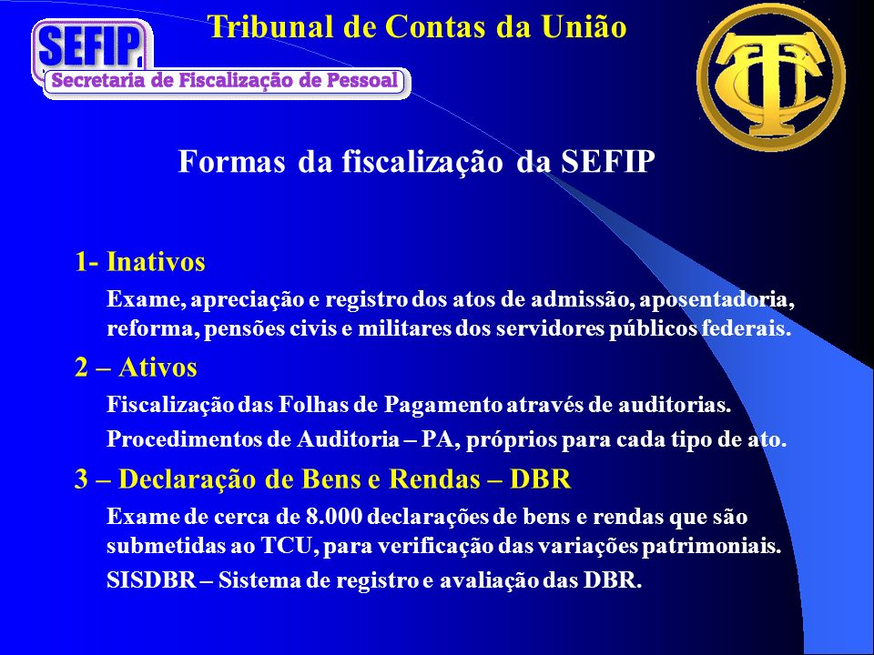 Formas da fiscalização da SEFIP