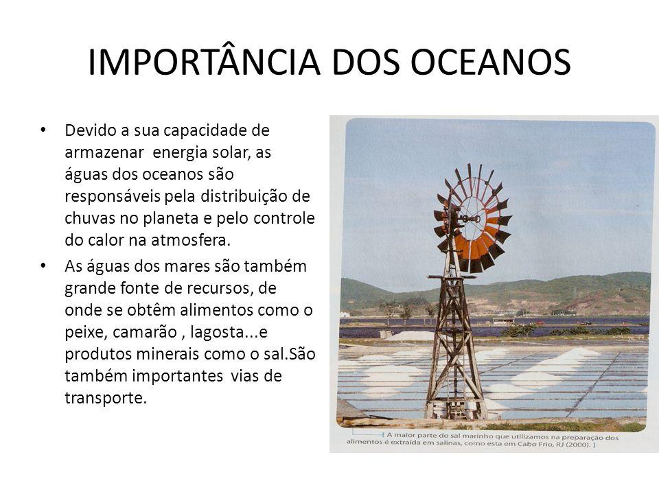IMPORTÂNCIA DOS OCEANOS