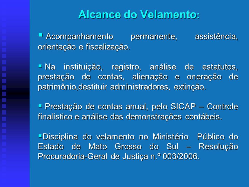Alcance do Velamento: Acompanhamento permanente, assistência, orientação e fiscalização.