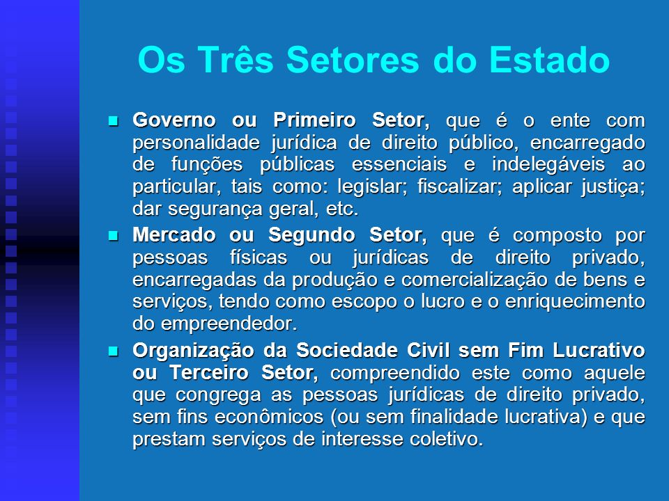 Os Três Setores do Estado