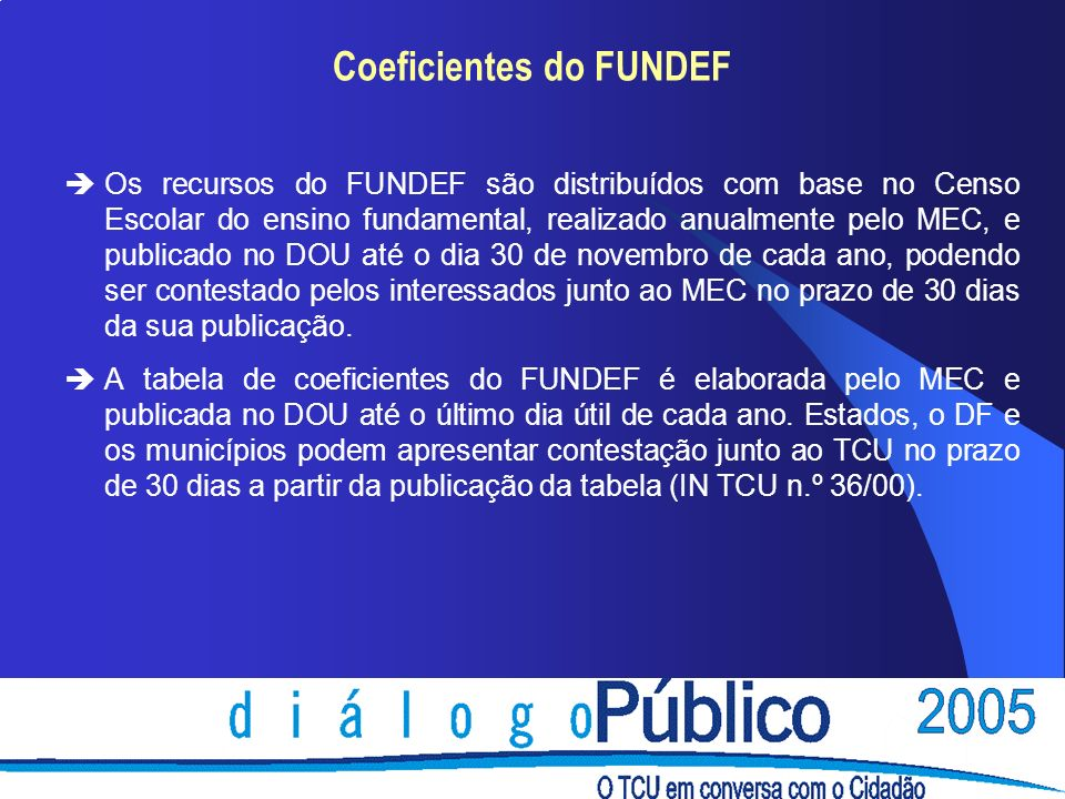 Coeficientes do FUNDEF