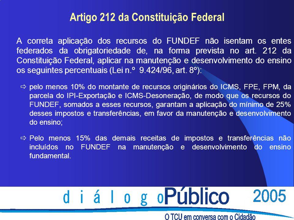 Artigo 212 da Constituição Federal