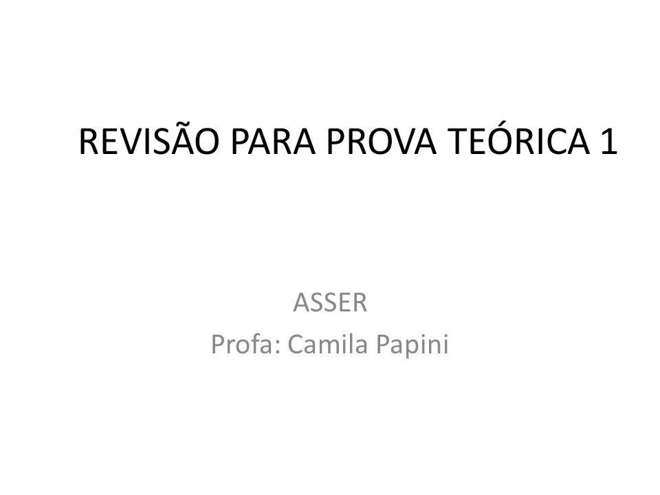 REVISÃO PARA PROVA TEÓRICA 1