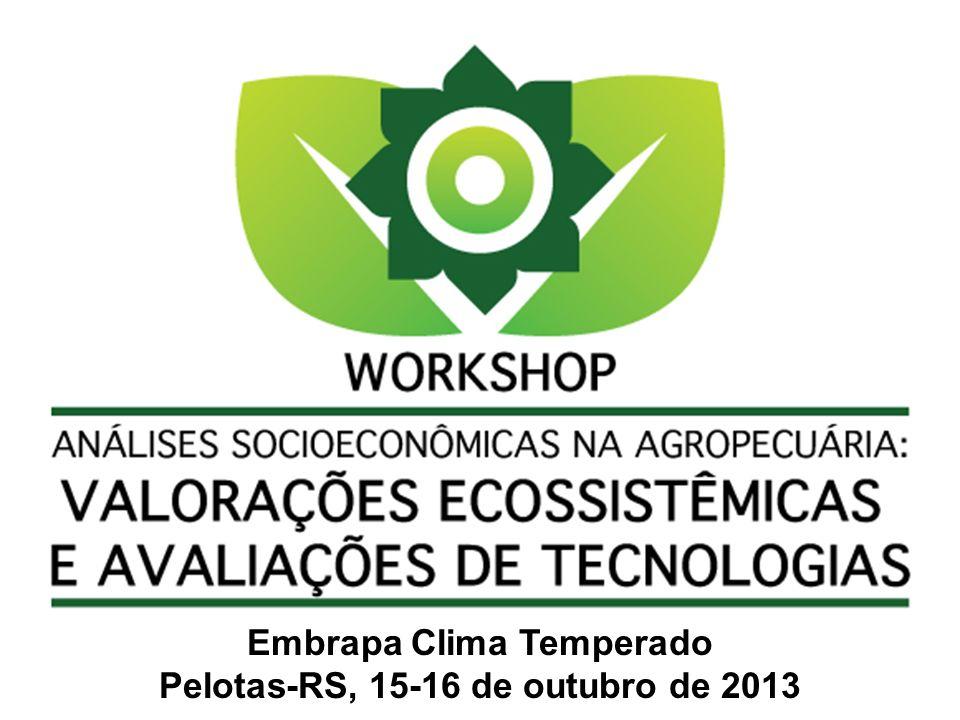 Embrapa Clima Temperado Pelotas-RS, 15-16 de outubro de 2013