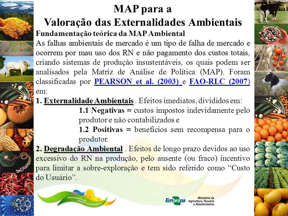 MAP para a Valoração das Externalidades Ambientais