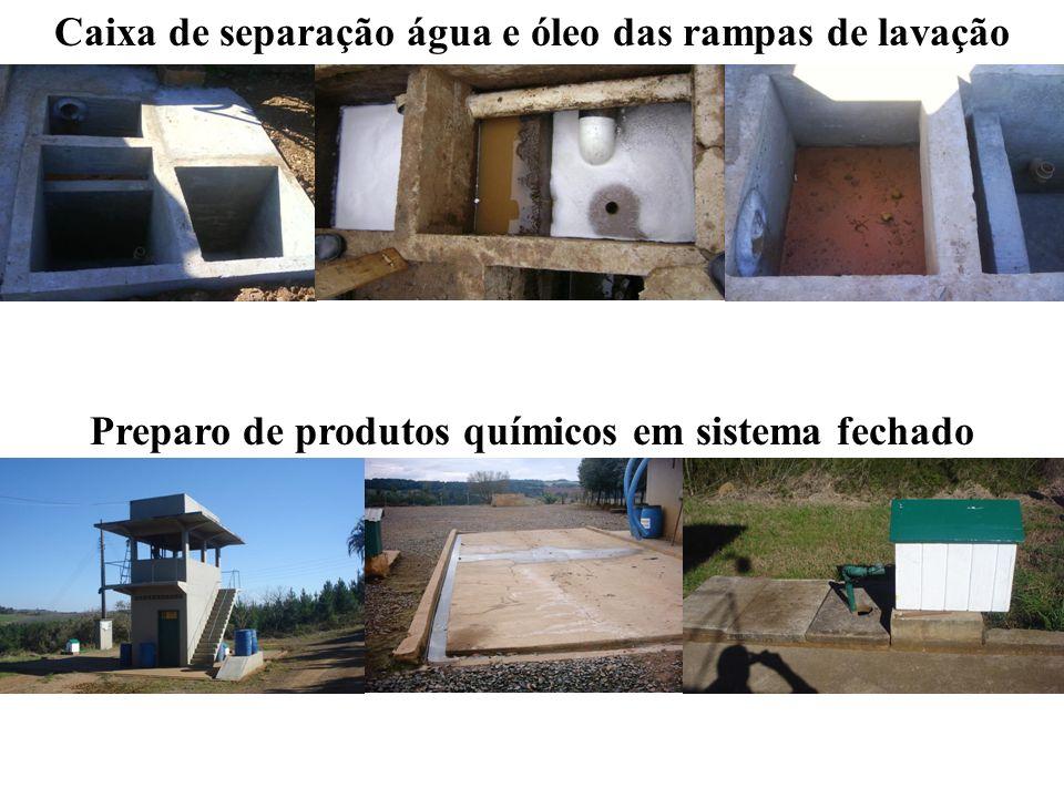 Caixa de separação água e óleo das rampas de lavação