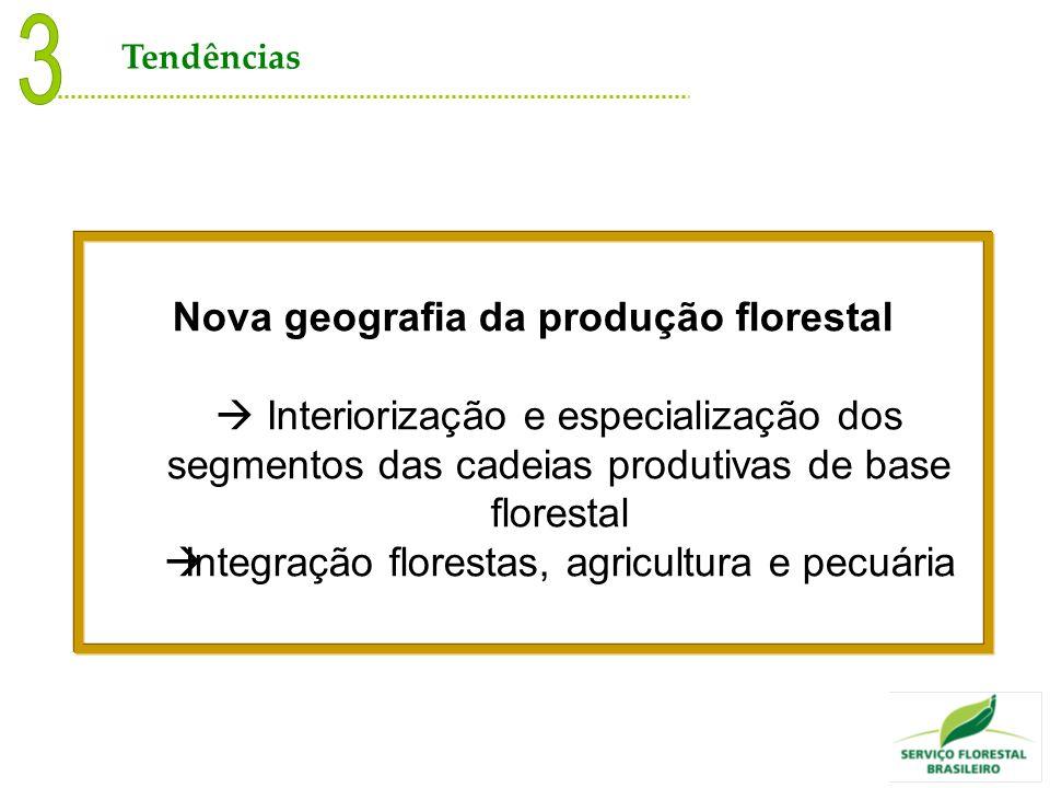 Nova geografia da produção florestal