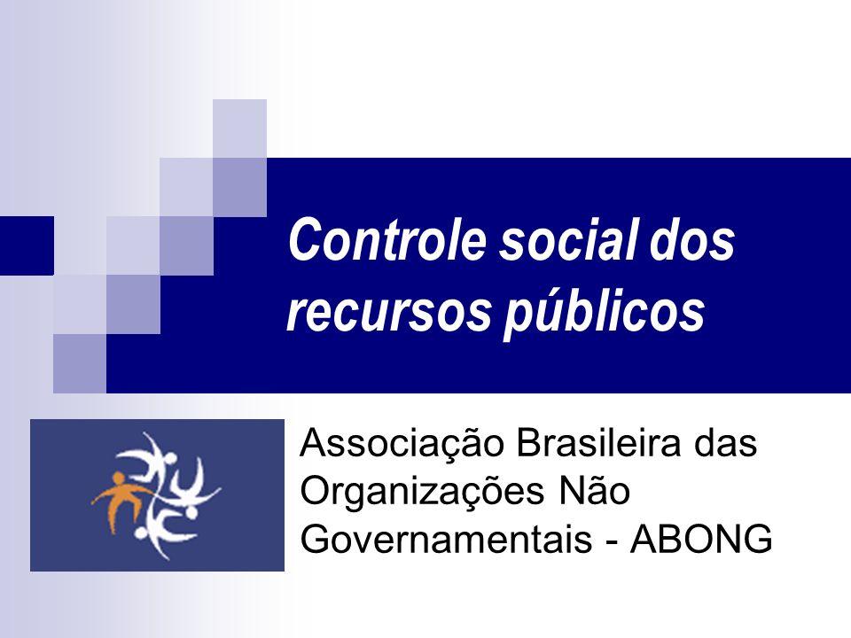 Controle social dos recursos públicos