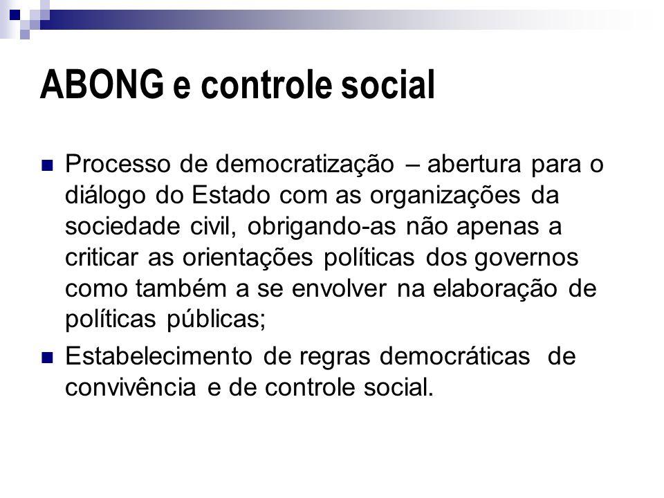 ABONG e controle social