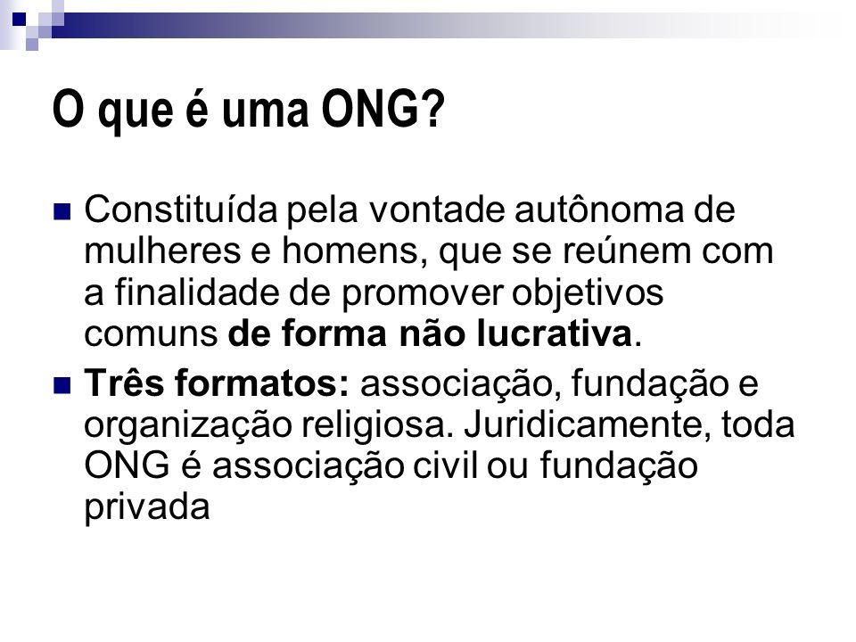 O que é uma ONG