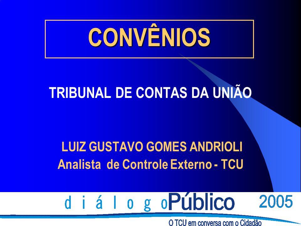 CONVÊNIOS TRIBUNAL DE CONTAS DA UNIÃO LUIZ GUSTAVO GOMES ANDRIOLI