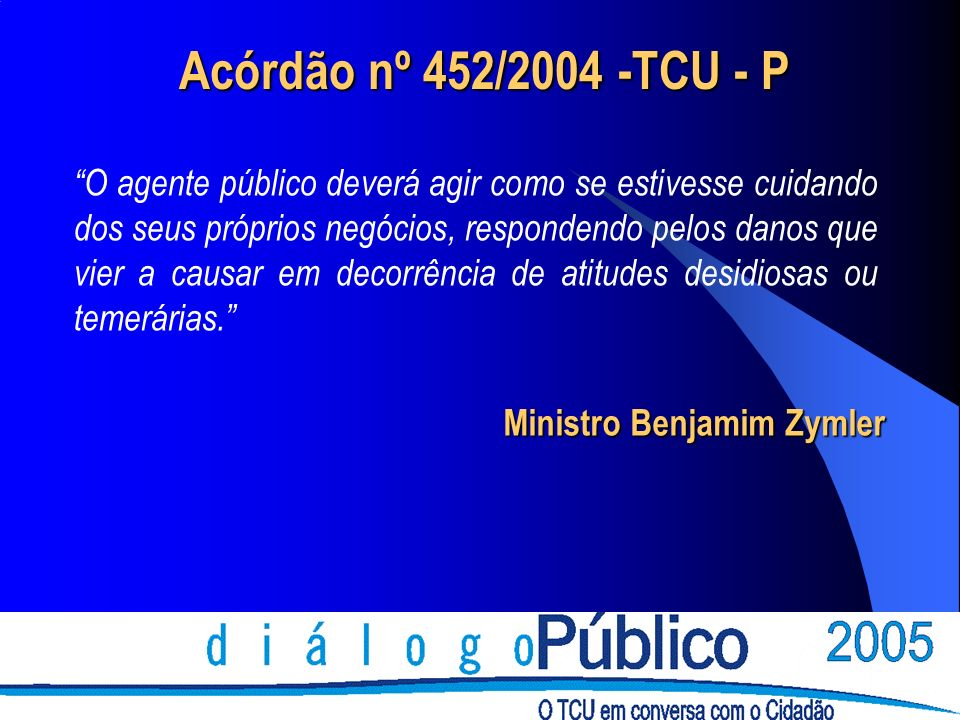 Acórdão nº 452/2004 -TCU - P