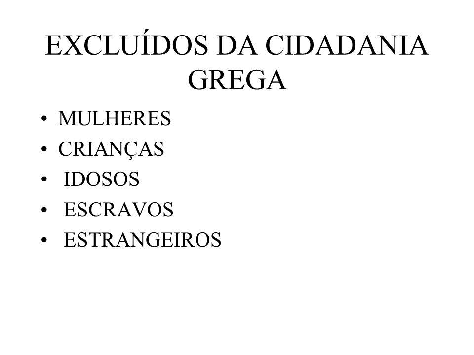 EXCLUÍDOS DA CIDADANIA GREGA