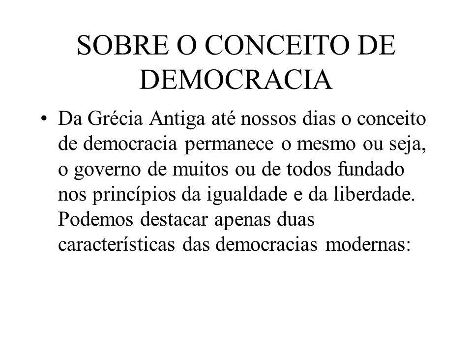 SOBRE O CONCEITO DE DEMOCRACIA