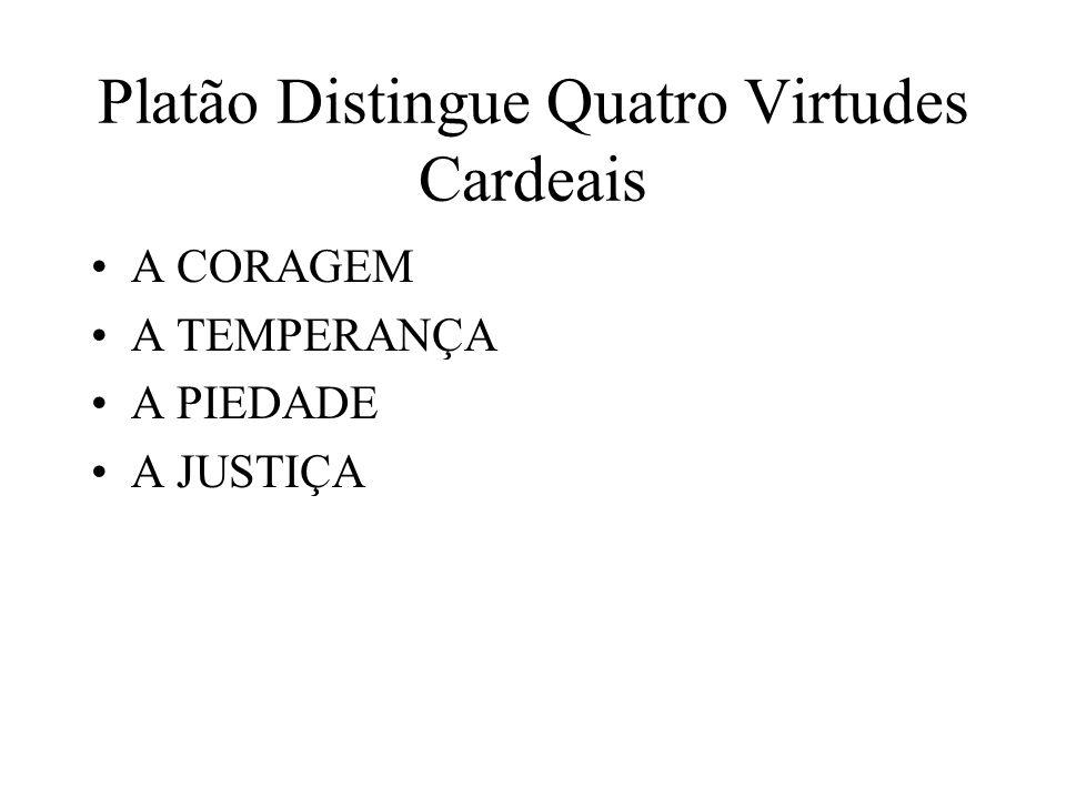 Platão Distingue Quatro Virtudes Cardeais