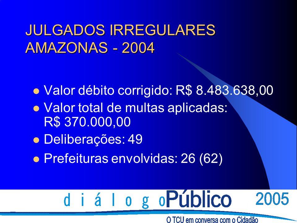 JULGADOS IRREGULARES AMAZONAS - 2004
