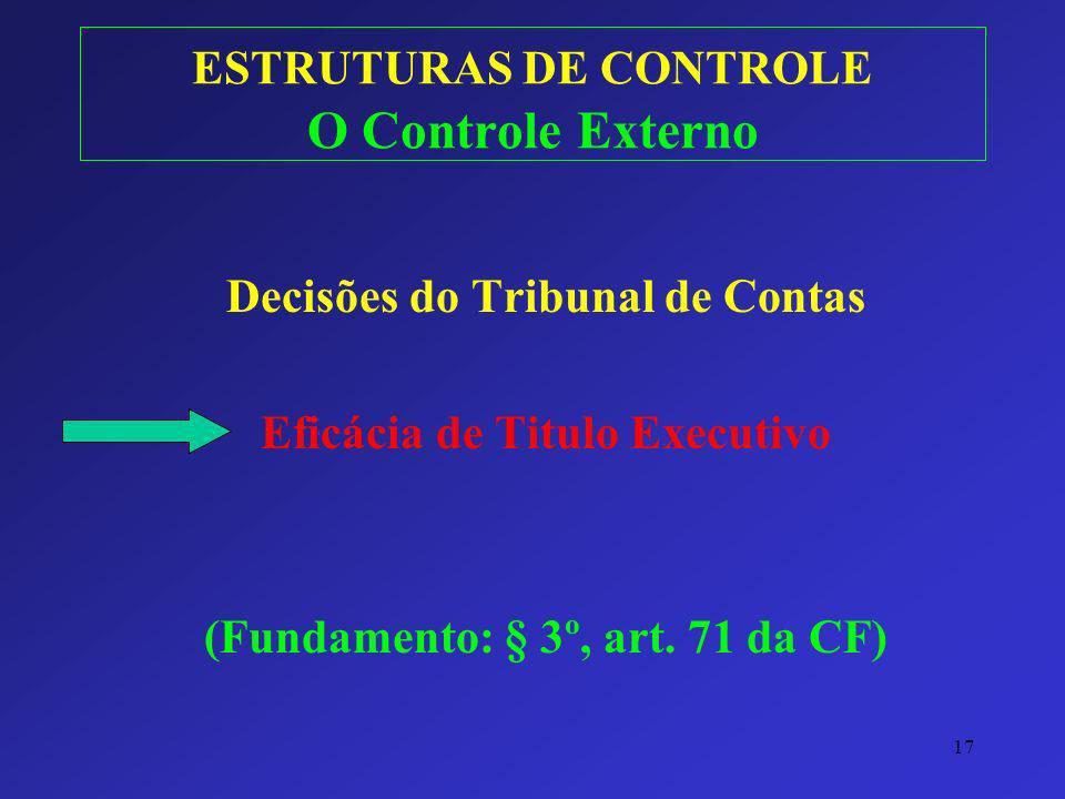 ESTRUTURAS DE CONTROLE O Controle Externo