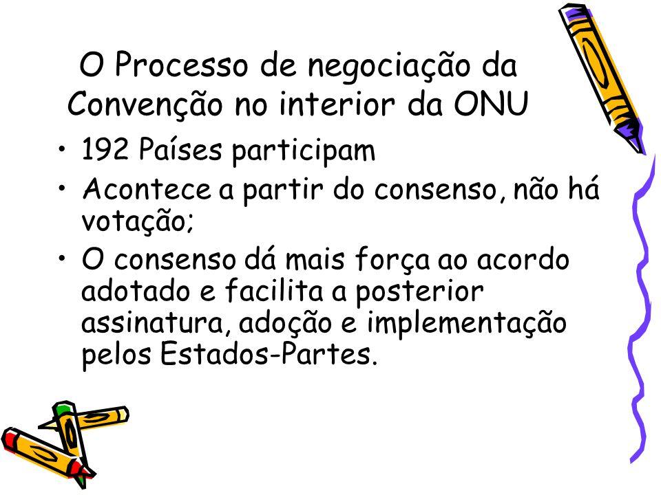 O Processo de negociação da Convenção no interior da ONU