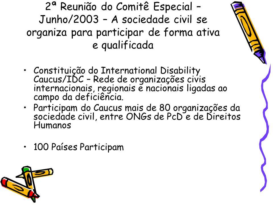 2ª Reunião do Comitê Especial – Junho/2003 – A sociedade civil se organiza para participar de forma ativa e qualificada