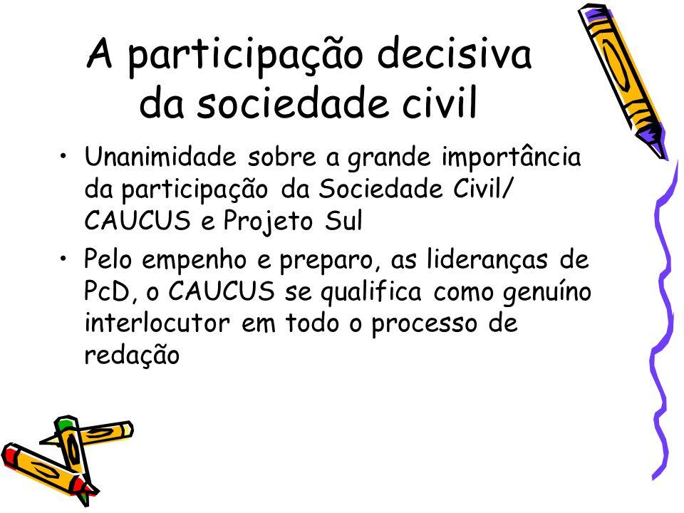 A participação decisiva da sociedade civil
