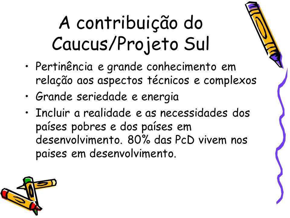 A contribuição do Caucus/Projeto Sul