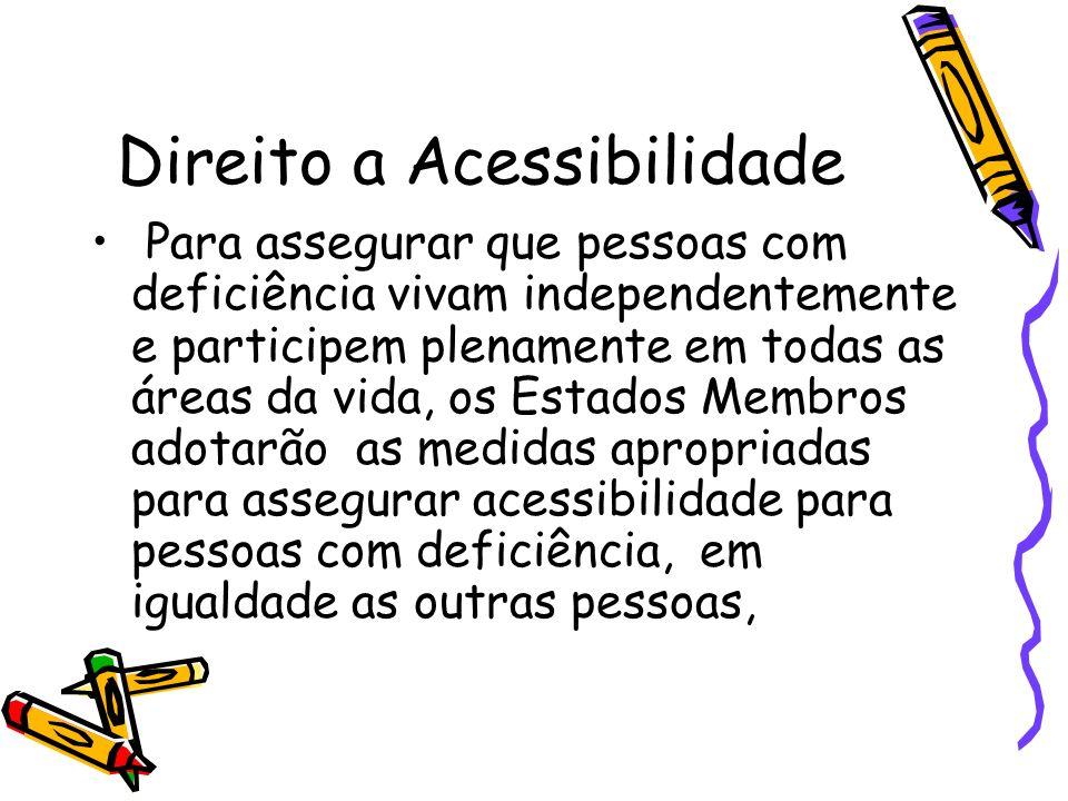 Direito a Acessibilidade