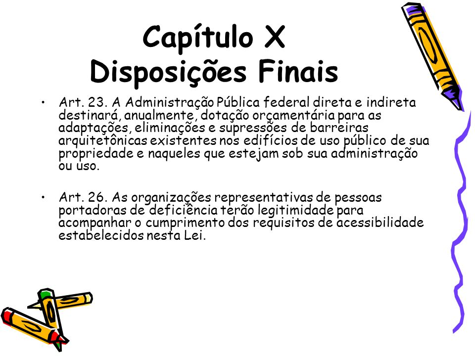 Capítulo X Disposições Finais