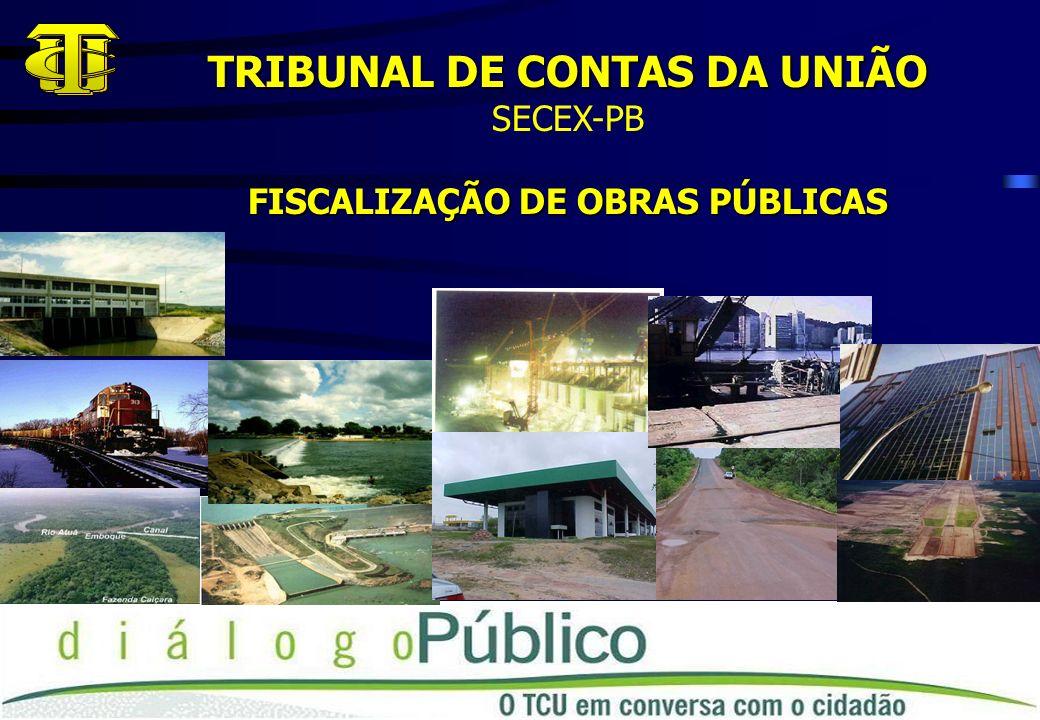 TRIBUNAL DE CONTAS DA UNIÃO FISCALIZAÇÃO DE OBRAS PÚBLICAS
