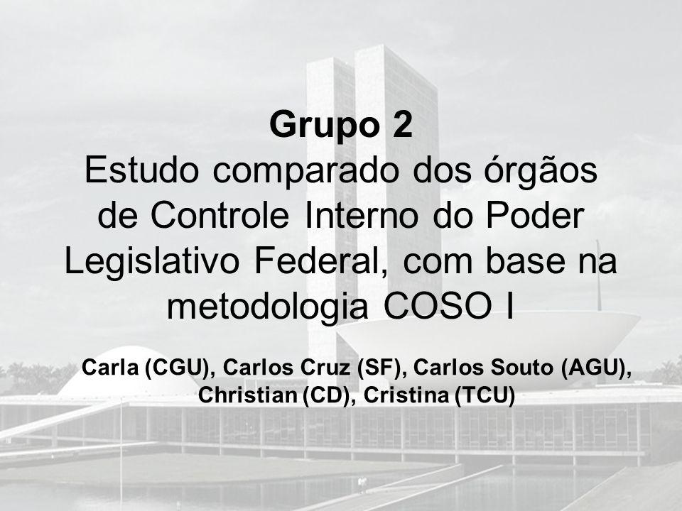 Grupo 2 Estudo comparado dos órgãos de Controle Interno do Poder Legislativo Federal, com base na metodologia COSO I