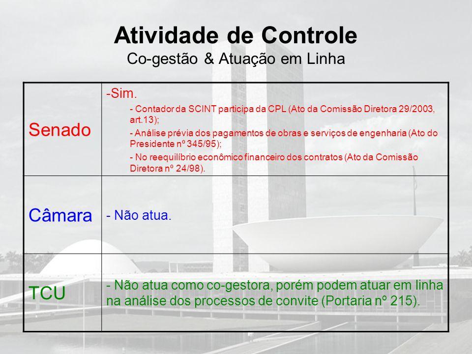 Atividade de Controle Co-gestão & Atuação em Linha