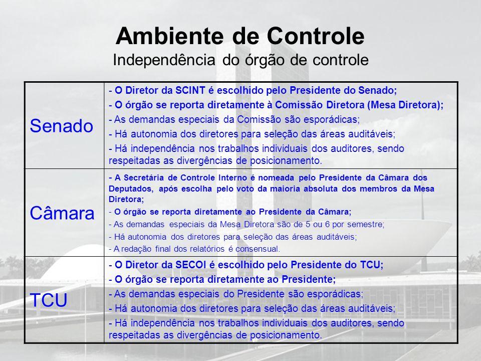 Ambiente de Controle Independência do órgão de controle