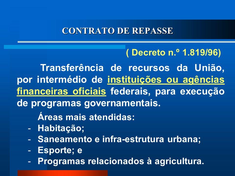 CONTRATO DE REPASSE ( Decreto n.º 1.819/96)