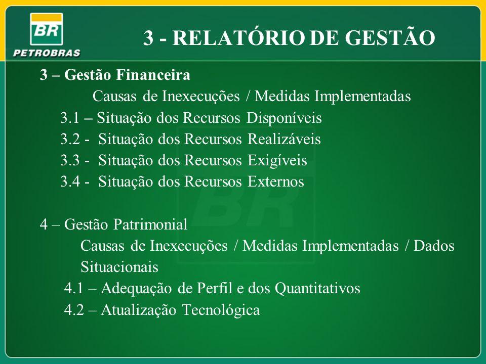 3 - RELATÓRIO DE GESTÃO 3 – Gestão Financeira