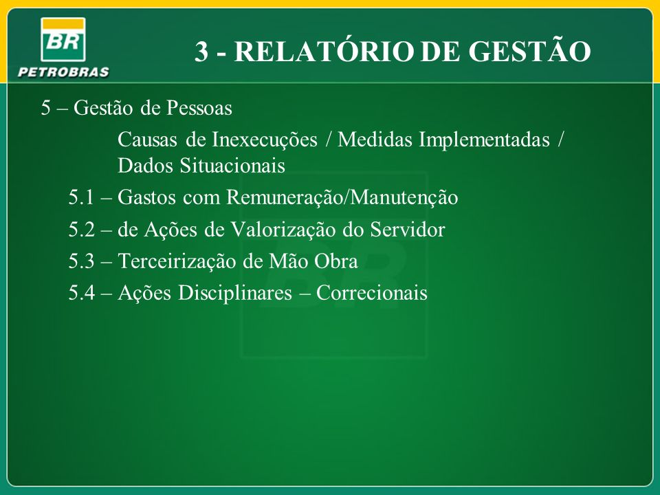3 - RELATÓRIO DE GESTÃO 5 – Gestão de Pessoas